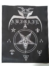 ABIGAIL faux leather / embroidered back patch (sigh, sabbat, nme)