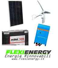 Kit eolico fotovoltaico ibrido solare 550 Watt 12V Inverter onda pura 1200 W
