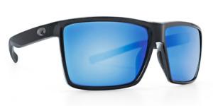 Costa Del Mar Sunglasses Rincon Shiny Black Blue Mirror 580G