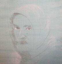 Woman portrait pastel painting