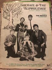 Michael & The Slipper Tree. Recorded By The Equals. Rare Sheet Music.