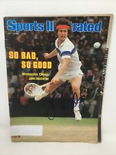 JOHN MCENROE SIGNED SPORTS ILLUSTRATED MAGAZINE  TENNIS MAC AUTOGRPAHED