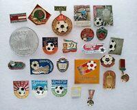 Football Soccer Clubs Sport Ball 24 pcs Soviet Vintage Pin Badge USSR ☭