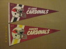 NFL St.Louis & Phoenix Cardinals Vintage 2 Bar Facemask Logo Football Pennants
