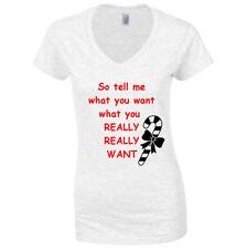 Christmas Cotton Blend Regular Size T-Shirts for Women