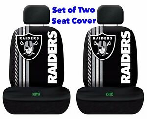 NFL Oakland Raiders Printed Logo Car Seat Cover-Set of Two