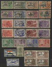 India Collection Early Commemorative Stamps (Sets) Used
