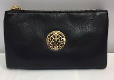 New Black Faux Leather Tree Of Life Purse Wallet Sling Bag Hand Bag