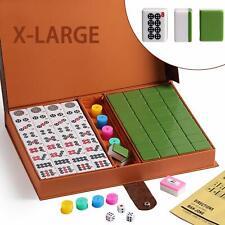 高級壓克力麻將 Chinese Numbered X-Large Green Tiles Mahjong set / Board Game US Seller