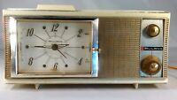 Vintage BULOVA Tube Clock Radio Model 400 Series