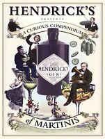 Hendrick's Gin Retro Metal Plaque/Sign Pub, Bar, Man Cave Novelty Gift