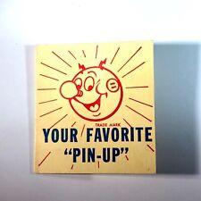 Vintage Circa 1955 Reddy Kilowatt Red Enamel Gold Pin In Original Packaging
