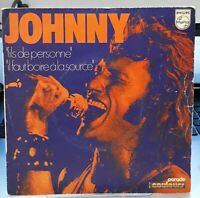 """Rare SP 45T. Johnny HALLYDAY. """"fils de personne""""- Pressage MADE IN ITALY, Italie"""