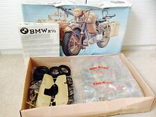 VINTAGE ESCI GERMAN BMW R/75 MOTORCYCLE With Side Car MODEL KIT 1/9 #7001#