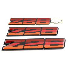 82-84 Camaro Z28 OEM Tri Color Orange Rocker Emblem Set Z28TRIORANGEOEREP
