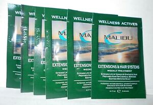 MALIBU Wellness Actives ~ EXTENSIONS & HAIR SYSTEMS Weekly Treatment ~ 6 Packs!!