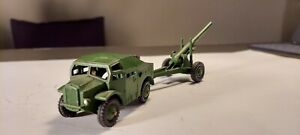 Lot of 2 Dinky Meccano 1960s toys Artillery Tractor and S5 Medium Gun