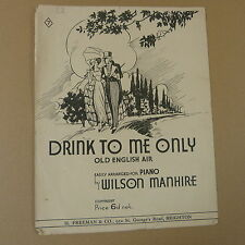 salon piano DRINK TO ME ONLY old english air, Wilson Manhire