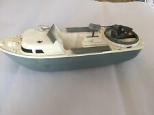 Vintage Military Toy Miniature Wind-Up Boat