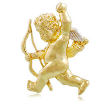 Shiny Gold Angel with Arrow Christmas Valentines Day Brooch Pin Xmas Gift BR238