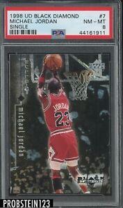 1998 UD Black Diamond Single #7 Michael Jordan Chicago Bulls HOF PSA 8 NM-MT