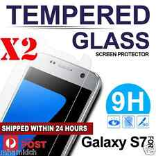 2x Quality Tempered Glass Film Screen Protector for Samsung Galaxy S7