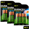 12 x Duracell Rechargeable AA batteries 2500 mAh replaces 2400 Duralock NiMH HR6