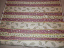 Drapery Upholstery Fabric Woven Paisley Leaf Stripe Green Purple 10 yards x 55""