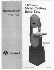 "Delta Rockwell 14"" Metal Cutting Band Saw Instructions"
