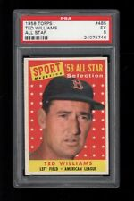 1958 Topps BB Card #485 Ted Williams Boston Red Sox ALL STAR PSA EX 5 !!!