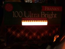 Tested New In Box Frank's 100 Ultra Bright Indoor/Outdoor Lights- 47.5 Ft Amber