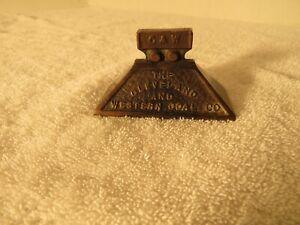 Metal Advertising Paperweight Coal Co.