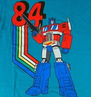 Optimus Prime Transformers 84 Graphic Small S Throwback T Shirt Teal Green New