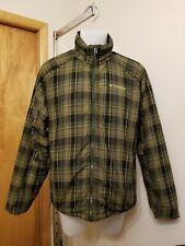 Columbia Green Plaid reversible men's jacket L Large full zip