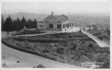 Tea Kiosk Mt. Eden AUCKLAND New Zealand RPPC ca 1940s Vintage Postcard