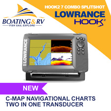 Lowrance Hook2 7 Combo Splitshot + Transducer + Charts | Fast & Free Shipping