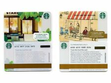 NEW NEVER USED 2014 Limited Edition Bella Cafe & 2015 Storefront Starbucks Cards
