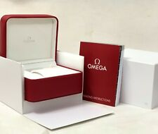 Omega Watch Box Speedmaster Seamaster Men's Watch Red Leather Watch Box Full Set