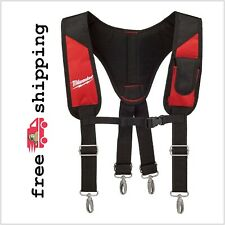 Padded Rig Work Suspender Tool Belt Phone Pouch Adjustable Suspension Milwaukee