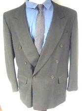 Paulo Solari Men's Sport Coat Jacket Brown Double Breasted 100% Wool Size 42R