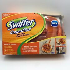 New Swiffer Carpet Flick Sweeper 4 Cleaning Cartridges Nib Starter Kit Torn Box