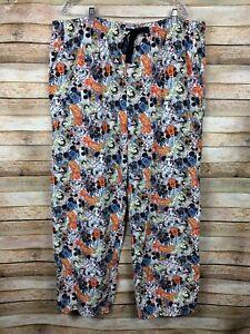 Disney Parks Mickey Mouse Lounge Pants Pajama Bottoms Comics Pockets Mens XXL