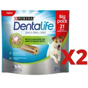 PURINA DENTALIFE DOG DENTAL CHEWS SMALL DOGS 21 STICK TWO PACKS 42 STICKS NEW