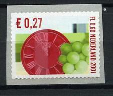 Nederland Rolzegel Kerst 2001 nr 2014 Klok en druiven LASTIG