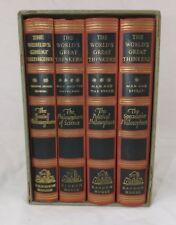 4 Book set of The Worlds Great Thinkers, Random House 1947 misstruck binding