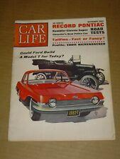 CAR LIFE MAGAZINE OCTOBER 1961 PONTIAC CATALINA SUPER STOCK CHRYSLER POLICE