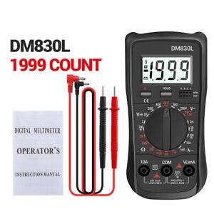DM830L Digital Multimeter Automatisch Strommesser Strom Voltmeter Amperemeter DE