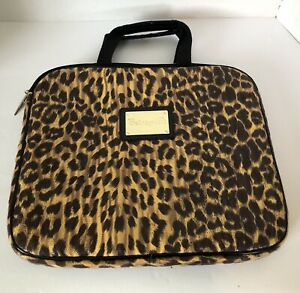 Betseyville Laptop Briefcase Cheetah Print With Handles 14 X 12