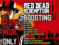 Red Dead Redemption 2 PS4 Mod Boost Story Mode Max Money Health Full Map All