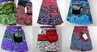 Retro Mini Skirt Festival PSY Trance Rave Hippie 1 size Fanny Bag Fairtrade PS1